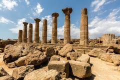 Świątynia Heracles w Agrigento, Sicily Zdjęcia Royalty Free