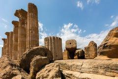 Świątynia Heracles w Agrigento, Sicily Fotografia Stock
