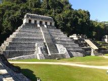 Świątynia inskrypcje, Palenque magii wioska zdjęcia stock