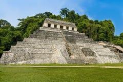 Świątynia inskrypcje w antycznym Majskim mieście Palenque, Chiapas, Meksyk fotografia stock