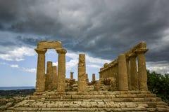Świątynia juno, Agrigento, Sicily Zdjęcia Stock