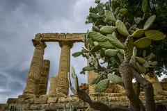 Świątynia juno, Agrigento, Sicily Fotografia Royalty Free