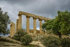 Świątynia juno, Agrigento, Sicily Obrazy Royalty Free