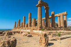 Świątynia Juno, dolina świątynie, Agrigento, Sicily, Italy Obrazy Stock