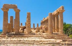 Świątynia Juno Hera w dolinie świątynie Zdjęcie Stock