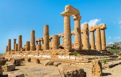 Świątynia Juno lokalizował w parku dolina świątynie w Agrigento, Sicily Zdjęcie Royalty Free