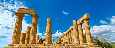 Świątynia Juno w dolinie świątynie przy Agrigento, Sicily Zdjęcie Royalty Free