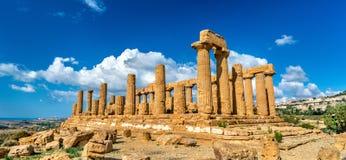 Świątynia Juno w dolinie świątynie przy Agrigento, Sicily Fotografia Royalty Free