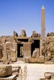 Świątynia Karnak obeliski fotografia stock