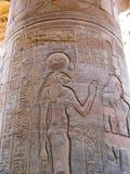 Świątynia Kom Ombo, Egipt: ulga Sekhmet antyczny lew Fotografia Stock