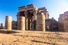 Świątynia kom Ombo, lokalizować w Aswan, Egipt zdjęcie stock