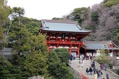 Świątynia kompleks Tsurugaoka Hachimangu Kamakura zdjęcie stock