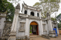 Świątynia literatura w Hanoi, Wietnam Fotografia Royalty Free