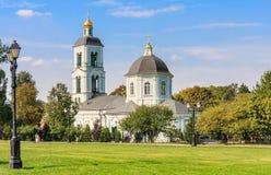 Świątynia matka bóg daje wiosna Tsaritsyno obrazy royalty free