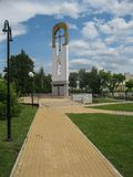 Świątynia na cześć matkę bóg ` płonącego Bush ` w mieście Dyadkovo, Bryansk Rosja region zdjęcie royalty free