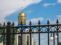 Świątynia na cześć matkę bóg ` płonącego Bush ` w mieście Dyadkovo, Bryansk Rosja region obraz stock
