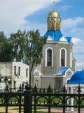 Świątynia na cześć matkę bóg ` płonącego Bush ` w mieście Dyadkovo, Bryansk Rosja region fotografia stock