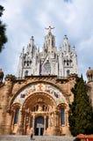 Świątynia na góra wierzchołku - Tibidabo w Barcelona Obraz Royalty Free