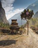 Świątynia na górze góry fotografia royalty free