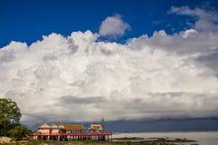 Świątynia na morzu Obraz Royalty Free
