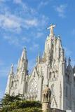 Świątynia na Tibidabo, Barcelona Fotografia Stock