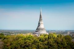 Świątynia na topof górze, Architektoniczni szczegóły Phra Nakhon Kh Fotografia Royalty Free