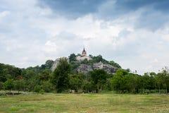 Świątynia na wierzchołku mała góra Obrazy Royalty Free
