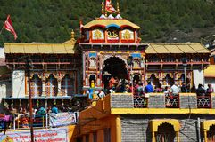 Świątynia na wzgórze staci Uttrakhand w India Zdjęcie Royalty Free