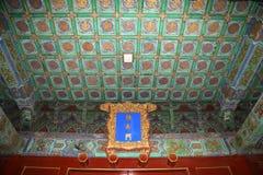 Świątynia niebo (ołtarz niebo)-- Wśrodku Hall modlitw żniwa na dobre, Pekin Obraz Royalty Free