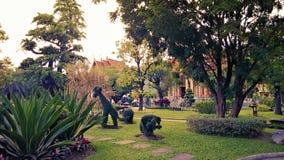 Świątynia ogród w Tajlandia Fotografia Royalty Free
