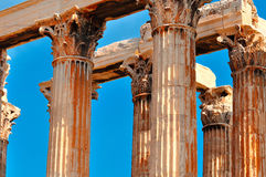 Świątynia Olimpijski Zeus Fotografia Stock