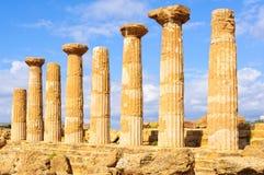 Świątynia Olimpijski Zeus, Agrigento - Obraz Royalty Free