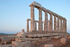 Świątynia Poseidon. Fotografia Royalty Free