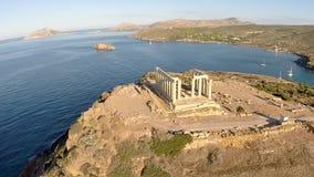 Świątynia Poseidon anteny materiał filmowy zdjęcie wideo