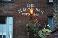 Świątynia Prętowy pub w Dublin fotografia royalty free