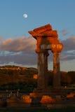 Świątynia przy Agrigento, Sicily Zdjęcia Royalty Free