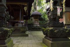 Świątynia przy Małpim Lasowym sanktuarium w Ubud Zdjęcie Royalty Free