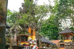 Świątynia przy Małpim Lasowym sanktuarium w Ubud, Bali, Indonezja zdjęcia stock