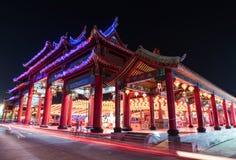 Świątynia przy nighttime Zdjęcia Stock