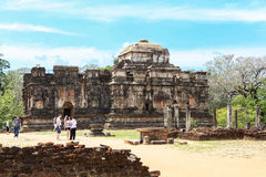 Świątynia przy Polonnaruwa, Srilanka Zdjęcia Royalty Free
