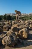 Świątynia Rycynowy i Pollux jeden grek świątynia Włochy, M Zdjęcia Royalty Free