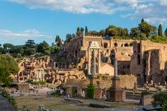 Świątynia Rycynowy Pollux, Rzym, Włochy fotografia royalty free