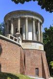 Świątynia Sibylin romantyczny ogród w PuÅ 'awy, Polska, budujący w opóźnionym xviii wiek jako muzeum Izabela Czartoryska zdjęcia stock