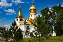 Świątynia St Seraphim Sarov obraz royalty free