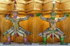 Świątynia strażnik rzeźbi w Szmaragdowej świątyni, Bangkok Fotografia Stock