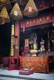 Świątynia szczegółu chińczyka ma inside świątynia w Macau porcelanie Fotografia Stock