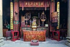 Świątynia szczegółu chińczyka ma inside świątynia w Macau porcelanie Obrazy Stock