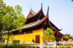 Świątynia tajemnica w Suzhou starym miasteczku (Xuanmiao świątynia) Obrazy Stock
