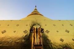 Świątynia, Tajlandzka świątynia, Wat Pra Singh, Chiang mai, Tajlandia, Fotografia Royalty Free