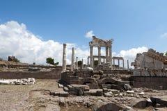 Świątynia Trajan przy akropolem Zdjęcia Stock